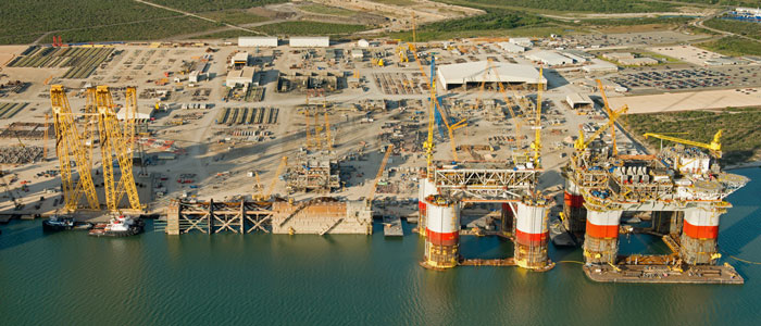 Kiewit Offshore Arial View
